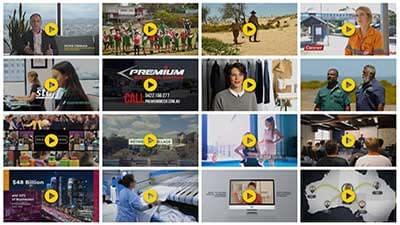 our video portfolio showing client videos