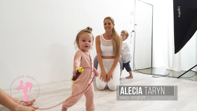video production, alecia taryn fit mom social media video