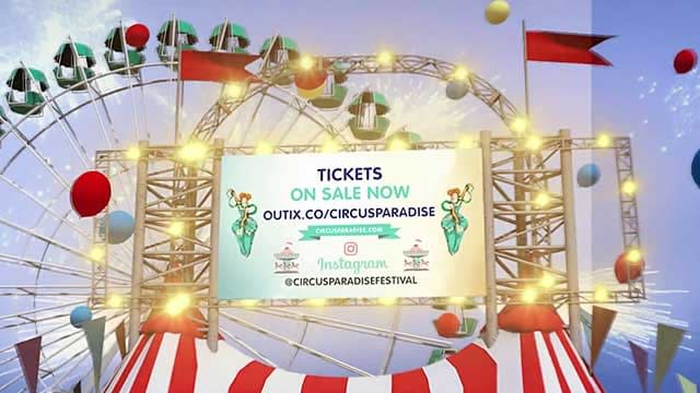 video production, circus paradise event promo video