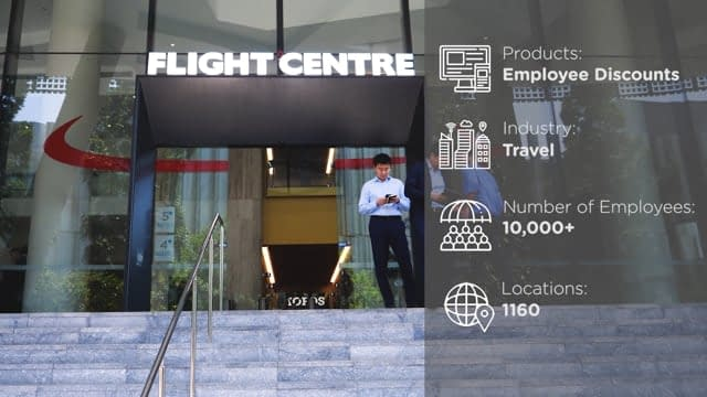 video production, flight centre case study, reward gateway